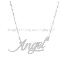 """Colar de pingente de script """"anjo"""" para o produto de vendas quente das meninas"""