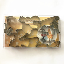 8pcs cut cheap christmas biscuit moulds sets