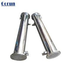 Condenseur de refroidisseur d'eau Shell et tube d'échangeur de chaleur