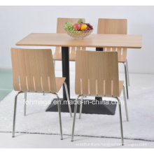 Modern Restaurant Dining Tables 4 Chairs Furniture Set for Sale