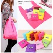 Fashion portable bag eco-friendly shopping bags folding nylon polyester women storage bag 8 colors available