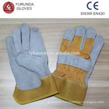 cheap mechanic gloves leather palm work gloves