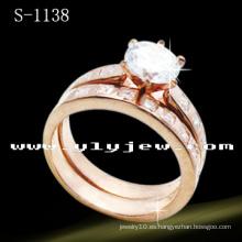 Accesorios de bisutería de moda 925 anillo nupcial (S-1138V. JPG)