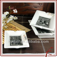 Melhor preço cerâmica porcelana cigarro cinzeiro personalizado cinzeiro