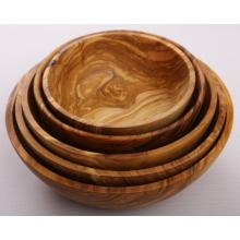 Ensaladera artesanal de madera de olivo, juego de 5