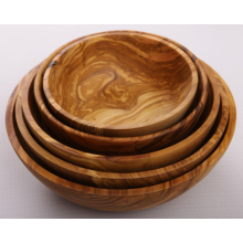 Olive Wood Handcrafted Salad Bowl Set Of 5