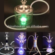 O tubo de narguilé de vidro / shisha / nargile / tubulação de água o mais vendido de Hubbly borbulhante com boa qualidade e luz conduzida