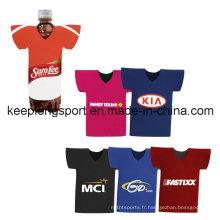 T-shirt à la mode et personnalisé Porte-bouteille en néoprène, refroidisseur de bouteilles