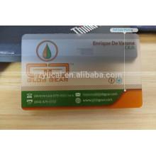 Custom shape clear print name card