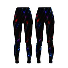 OEM nuevo diseño de impresión de las mujeres pantalones de compresión pantalones de yoga sublimación desgaste de la aptitud