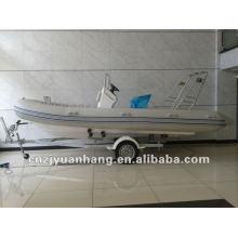 Barco de pesca de casco rígido de fibra de vidrio 550