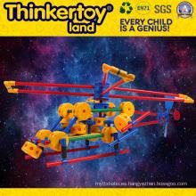 Juguete de plástico de educación de bricolaje para niños juguetes de plástico de bloque de PVC