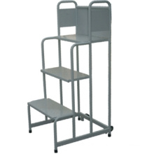 Best selling high quality folable movable steel supermarket step ladder cart/Easy aluminium platform hand truck