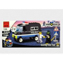 Juguete del carro del convoy del diseñador de la serie de la policía 87PCS