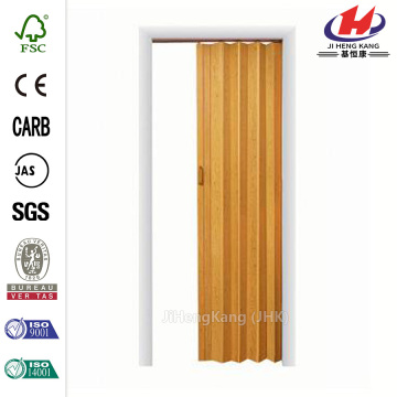JHK-F01 White Wood Style Interior Accordion Folding Doors