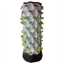 aeroponic tower gardening watering system for greenhouse