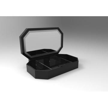 Goedkope Black Makeup Storage Containers Box