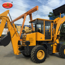 Konstruksi Terowongan Mini Hydraulic Wheel Backhoe Loader