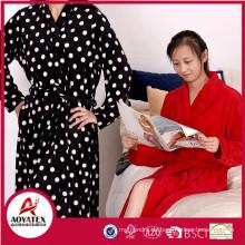 Günstigen Preis schöne lange Ärmel Baumwolle Frauen Terry Bademantel Kleid Großhandel
