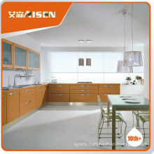 Various models modern wood veneer china kitchen cabinet factory
