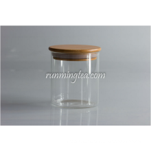 Wood Lid Glass Jars Canister