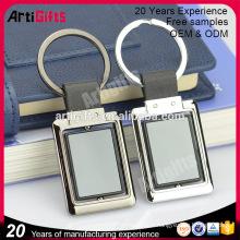 Accessoires de porte-clés en cuir personnalisés pour clés de voiture