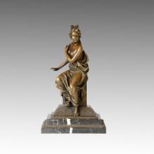 Klassische Figur Statue Nackte Lady Bronze Skulptur TPE-004