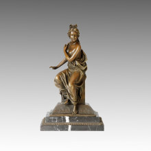 Classical Figure Statue Nude Lady Bronze Sculpture TPE-004