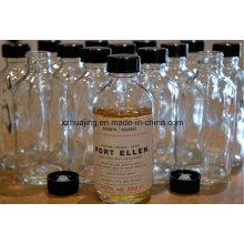 500ml 16oz Cylinder Plastic Cap Beverage Glass Juice Bottle