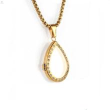 Vidro de ouro vivendo medalhões flutuantes e encantos oco medalhão colar de jóias