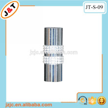 flexible decorative metal rod with fancy diamond curtain finial