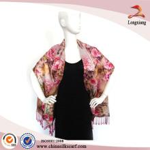 Handmade Dress Wraps Digital Printed Silk Scarves Wholesale Pashmina Shawl