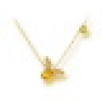 1.20CT Oval Cut Natural Citrine Peridot Abeja Collares pendientes de Plata de Ley 925 para Las Mujeres de Compromiso de Joyería Fina