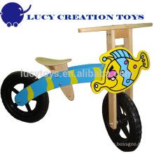 Bicicleta de equilíbrio de madeira para crianças