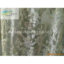 Tecido de Organza do poliéster flocada para decoração tecido/casamento vestido