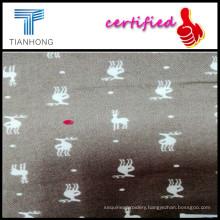 Deer Print Cotton Flannel Fabric/Cotton Woven Printed Twill Fabric/Cotton Flannel Pajama Fabric