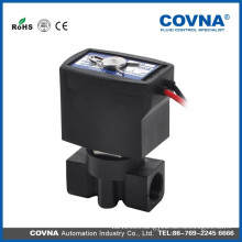 "G1/4"" direct acting solenoid valve NC 10 bar plastic valve"