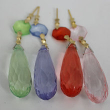 Fashion Chandelier Prism Parts with Acrylic Octagon Beads and Teardrop Pendant
