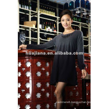 Ladies' dip dying cashmere sweater dress