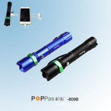 Power Bank High Power Police LED Flashlight (POPPAS-809B)