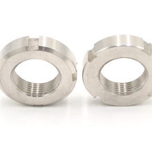 High strength different specifications slotted round shaft lock nut