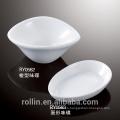 Buena calidad china porcelana blanca huevo-forma plato de salsa