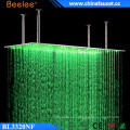 Beelee 20 '' Large Rectángulo cepillado lluvia cascada impermeable LED ducha