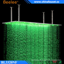 Beelee 20 '' Große gebürstet Rechteck Regenfall Wasserfall LED Dusche