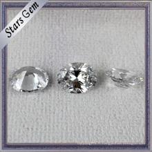 Vente chaude populaire forme ovale blanc brillant CZ pour les bijoux