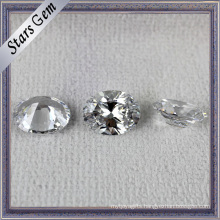 Popular Hot Sale Oval Shape White Shining CZ for Jewelry
