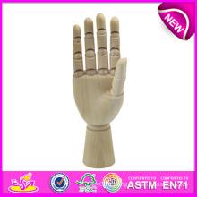 La meilleure main en bois de mannequin de vente, mains flexibles de mannequin en bois à vendre, main flexible de mannequin en bois de mannequin W06D042-B