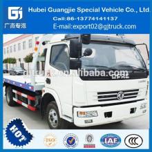 2018 RHD Dongfeng camión de auxilio / camión de arrastre de china remolque / camión de plataforma de 5 toneladas con grúa