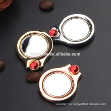 Soporte giratorio magnético universal del apretón del espejo del soporte del anillo de dedo del diamante 360 para el smartphone