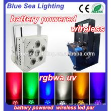 Hochzeit 6 * 18w rgbwa uv 6in1 IR WIFI drahtloser batteriebetriebener geführtes par